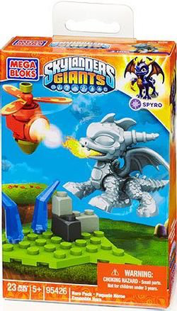 Mega Bloks Skylanders Magic Silver Metallic Spyro Building Kit