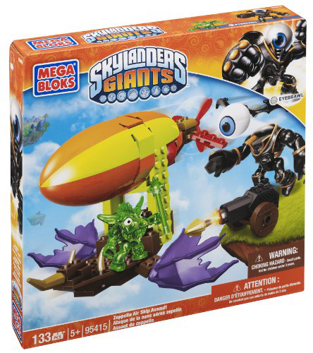Mega Bloks Skylanders Zeppelin Air Ship Assault Building Set